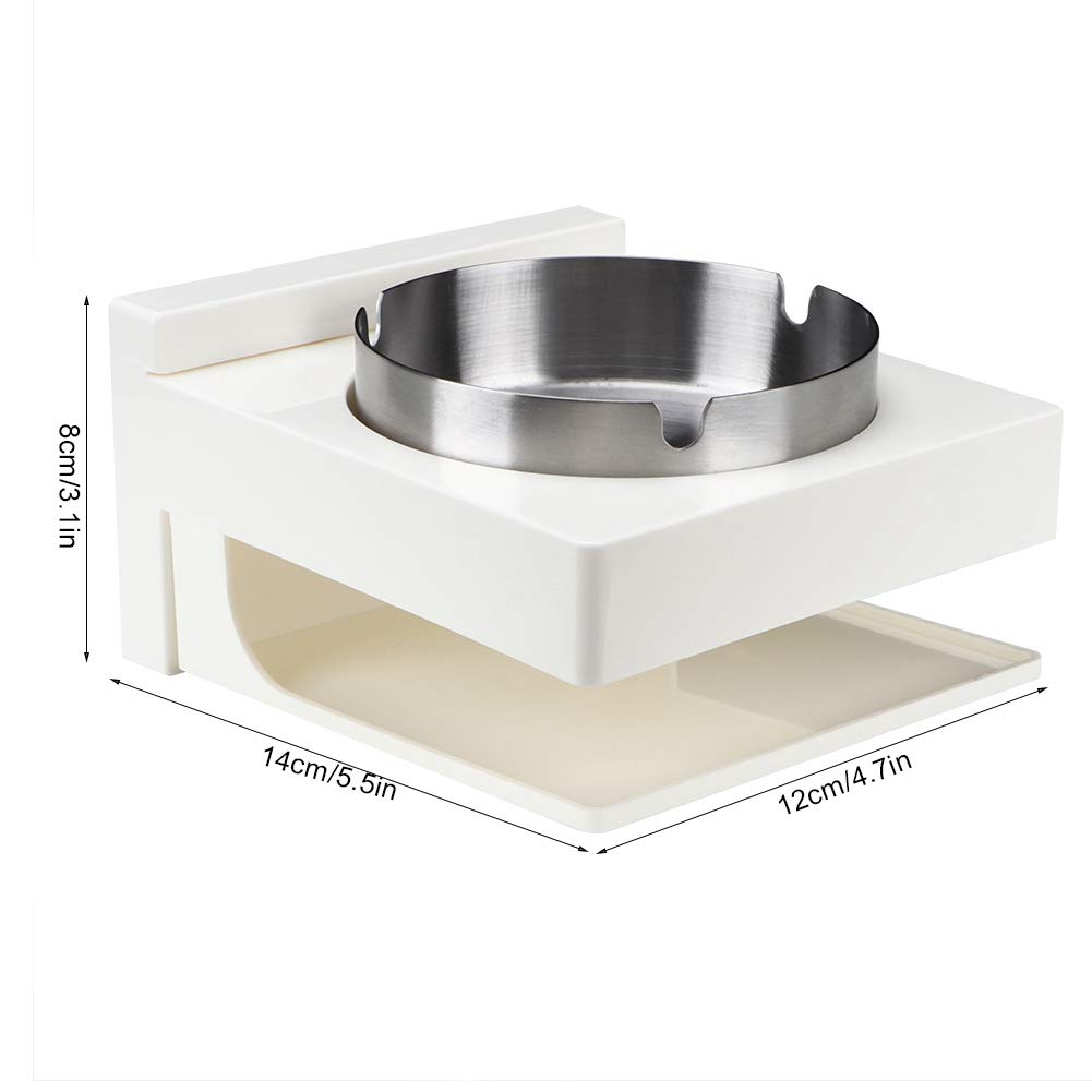 Ashtray Silver Stainless Steel Wall Mounted Punch Free Installation Smoking Ashtray for Bathroom Accessories