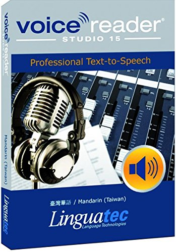 - Voice Reader Studio 15 臺灣華語 / Mandarin (Taiwan) - Professional Text-to-Speech Software (TTS) / Convert any text into audio / Natural sounding voices / Create high-quality audio files / Large variety of applications: E-learning; Enrichment of training documents or advertising material; Traffic announcements, Telephone information systems; Voice synthesis of documents; Creation of audio books; Support for individuals with sight disability or dyslexia / This version contains 1 female voice