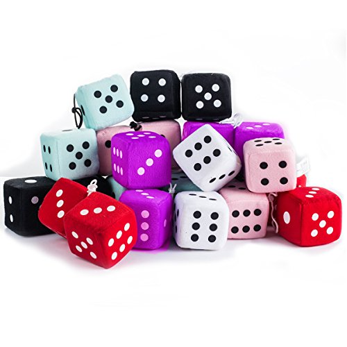 (Tigerdoe 50s Party Decorations - Hanging Dice for 50's parties 12 Plush Accessories)