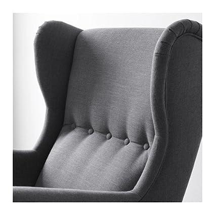 Amazon.com: Ikea Wing Chair, Nordvalla Dark Gray 428.2214.1014: Kitchen U0026  Dining