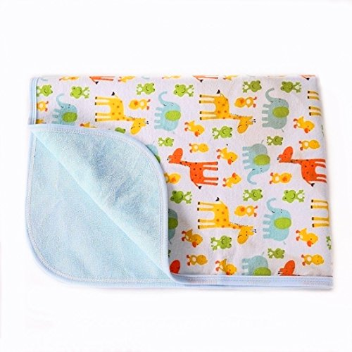Portable Changing Pad Waterproof Diaper Change Mat Large Size Multi-Function [Home & Travel] Mat Any Places Bed Play Stroller Crib Car Mattress Pad Cover (Frog & Giraffe, XL (27.56 x 47.2 Inch) ()