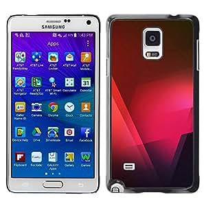 TopCaseStore / la caja del caucho duro de la cubierta de protección de la piel - Black Pink Red Polygon - Samsung Galaxy Note 4 SM-N910F SM-N910K SM-N910C SM-N910W8 SM-N910U SM-N910