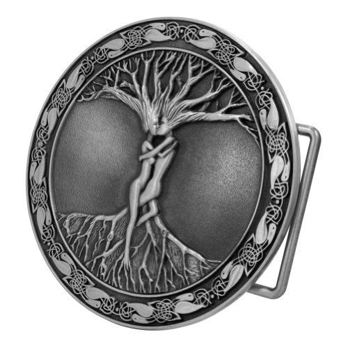 Mens Silver Belt Buckles (Buckle Rage Celtic Tree of Life Belt Buckle)