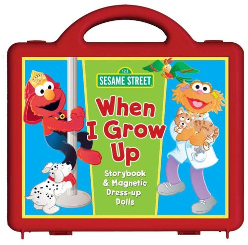 Read Online Sesame Street When I Grow Up Book and Magnet Set: Storybook and Magnetic Dress-up Dolls pdf epub