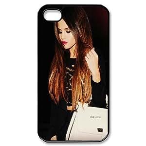 IPhone 4/4s Case Selena Gomezs Ombre Hair, - [Black] Bloomingbluerose
