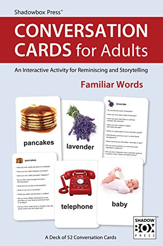 Reminisce Santas (Conversation Cards for Adults, Familiar Words - Reminiscence Activity for Alzheimer's / Dementia / Memory Loss Patients and Caregivers)
