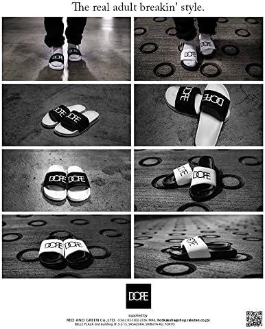 [ドープ] Q0817-X589-WHT シャワーサンダル スポーツサンダル かっこいい ビーチサンダル ビーサン 専用BOX付き アメカジ 正規品 黒白