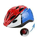 Kids Bike Cycling Helmets Warning Tail Light Protective Gear for Toddler Child Children,Multi-Sport Safety Helmet for Skateboard Skate Scooter Roller