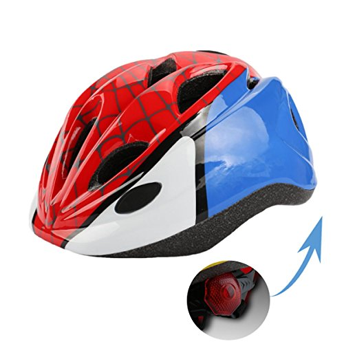 Atphfety Kids Bike Cycling Helmets Warning Tail Light Protective Gear for Toddler Child Children,Multi-Sport Safety Helmet for Skateboard Skate Scooter Roller