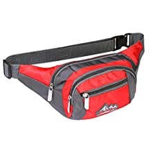 Vofolen® Water Resistant Waist Packs Sports Fanny Pack Casual Waist Bag Clutch Shoulder Chest Pocket Workout Exercise Lumbar bag Cellphone Pouch Carrying Case for iPhone 7 Plus 6S Plus Galaxy S7 Edge