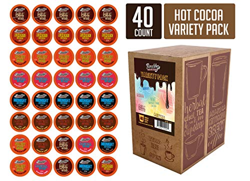 - Brooklyn Beans Hot Chocolate Variety Pack Pods, Compatible with 2.0 K-Cup Brewers, 40 Count