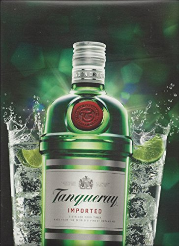 **PRINT AD** For Tanqueray Gin Bottle & 2 Drink Scene