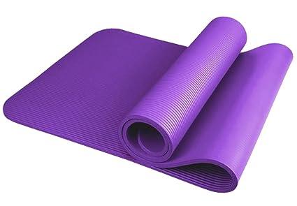 MissFox Extra Gruesa Yoga Esterillas Protección Ambiental Espuma Cómoda Fitness Esterilla Deporte 183 * 80 * 1.0CM
