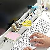 #7: Monitor Memo Board - Sticky Note Pen Holder - Computer Monitor Message Memo Screen Paper Holder - Desktop Storage Acrylic Shelves Notes Multifunction Board For Office Desk Organizer Holder Shelve