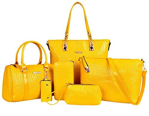 Yiyida - Bag Handles Black Woman Black Yellow