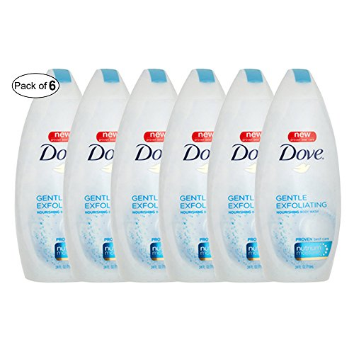 Dove Gentle Exfoliating Nourishing Body Wash(500ml) (Pack of 6) ()