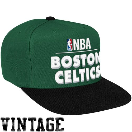 NBA Mitchell & Ness Boston Celtics Hardwood Classics Media Day Snapback Hat - Kelly Green (Boston Celtics Snap)