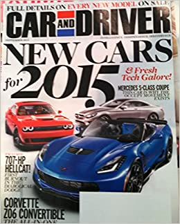 Car And Driver Magazine September 2014 New Cars For 2015 Amazon