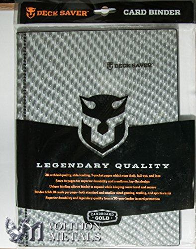 50 Pack of CBG Deck Saver HOLOFOIL Silver & Black Dragon Hide 9 Pocket Side Loading Binders -360 card Capacity by Deck Saver