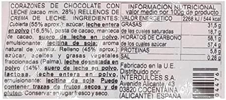 Corazones de Chocolate con Leche Interdulces 1 kg: Amazon.es ...