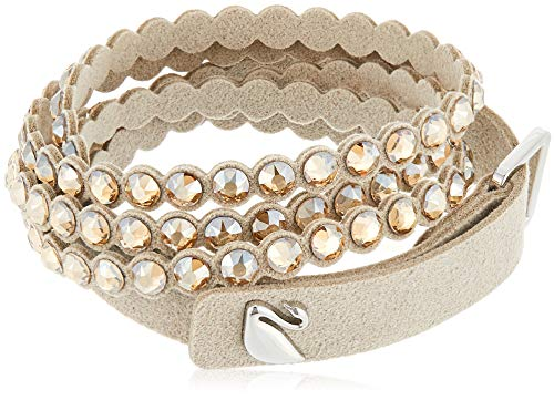 SWAROVSKI Women's Leather Look Crystal Power Bracelet Collection