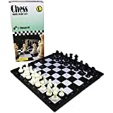 "C-Squared Magnetic Chess Set | Small Portable Game for Travel with Magnet Pieces | Educational Game for Adults and Kids | Free Checkers Set Included Plastic | 9.5"" x 9.5"" Folding Board"