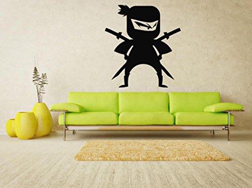 Wall Stickers Decals Sticker Decal Home Decor Murals Art Sport MMA Fighter Ninja (069n)