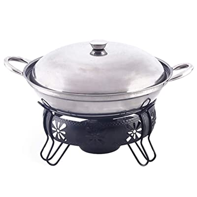 Guoguocy BBQ Barbeque Barbecue Grill, Korean Household Smokeless Stainless Steel Alcohol Dry Boiler, Fire Boiler, Indoor and Outdoor, 22cm (Size : 24cm22cm) : Garden & Outdoor