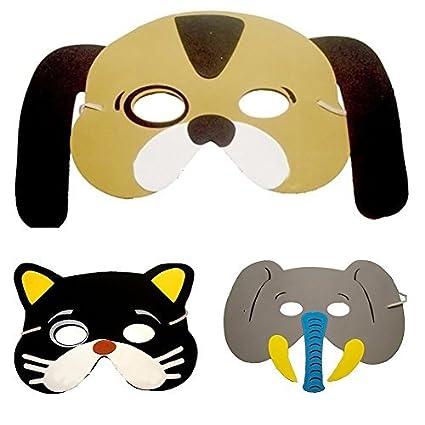 10 pcs Cartoon Animal máscara máscara de los niños fiesta máscara perro Mono elefante tigre jirafa