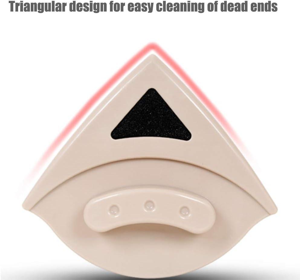 Aspiradora de vidrio magnética triangular Aspiradora de vidrio ordinaria Limpiacristales de doble cara Limpiacristales Diseño de aislamiento magnético (Color : Beige, Size : M): Amazon.es: Hogar