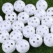 IMIKEYA 24pcs Golf Balls Air Flow Golf Balls Hollow Golf Balls Golf Training Balls Golf Practice Ball Golf Equ