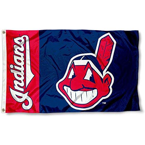 Indians Cleveland Banner (WinCraft Cleveland Indians Flag 3x5 MLB Banner)