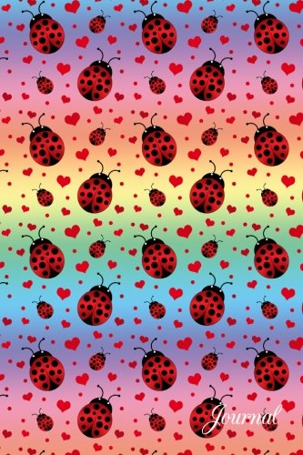 Journal: Rainbow hearts ladybug notebook
