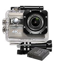 ICONNTECHS IT Sport Action Camera 4K Ultra HD Impermeabile, Lente Grandangolo 170°, Videocamera Full HD 1080P WiFi HDMI, Accessori gratis per Caschi, Immersioni Sub, Bicicletta e Sport Estremi