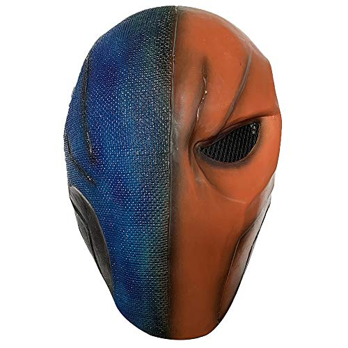 Deathstroke Latex Mask Arkham City Superhero for Halloween Cosplay Props