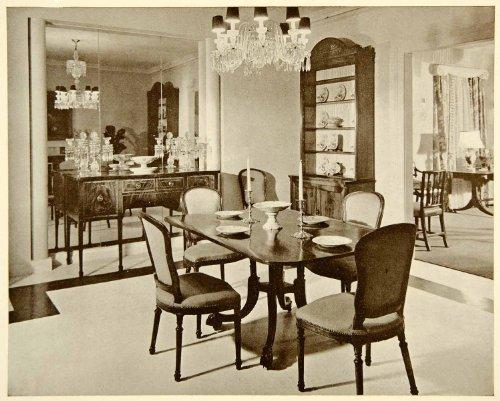 1938 Print Ross Stewart W & J Sloane New York Sheraton Sideboard Dining Room - Original Halftone Print (Room Sheraton Dining)