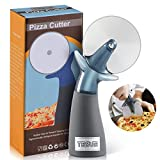 TESUE Pizza Cutter Wheel Slicer - Premium Anti-rust Stainless Steel Sharp Blade - Ergonomics Design Anti-Slip Handle - Easy to Clean and Use - Fit for Pies, Waffles