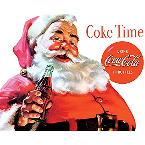 Sign of Good Taste Coca-Cola Santa Holiday Wall Decal Set of 5