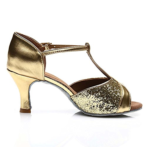 Jfkstore Kvinna Latin Salsa Tango Balsal Dansskor Guld