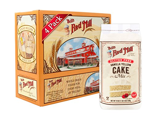 - Bob's Red Mill Gluten Free Vanilla Yellow Cake Mix, 19-ounce (Pack of 4) (Package May Vary)