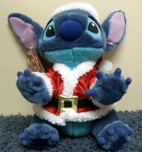 (Lilo & Stitch Disney Store Retired HOLIDAY STITCH in Santa Outfit 12