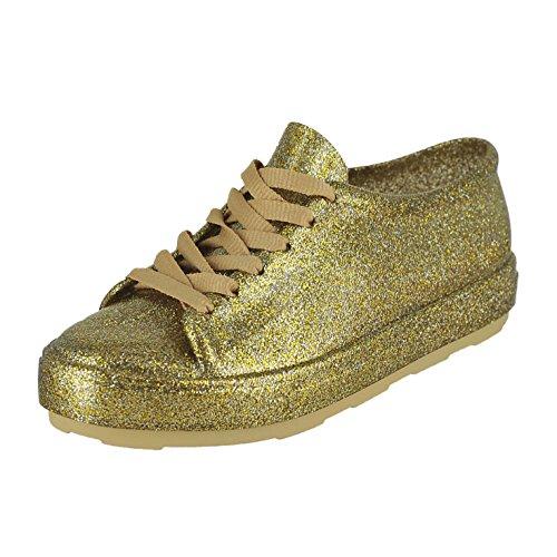 Melissa Women's Be Sneakers Gold Fushion Glitter