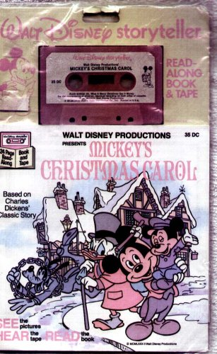 Mickey's Christmas Carol - Based on Charles Dickens Classic Story - Read Along Book and Audiio Cassette (Walt Disney Storyteller)