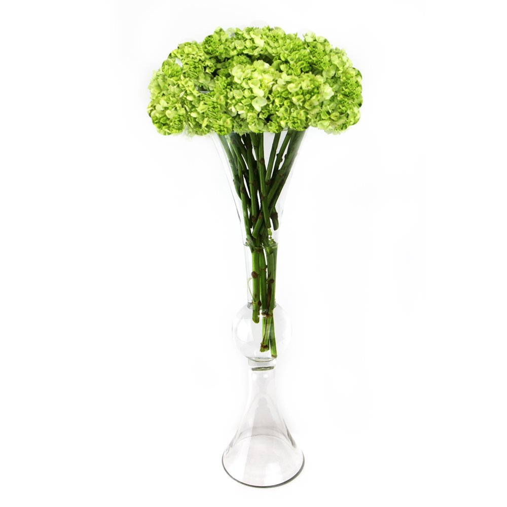 CYS GTR161 Clear Reversible Flare Open Trumpet Vase (4 Pack) by CYS EXCEL