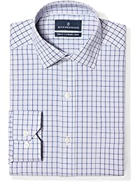 Amazon Brand - BUTTONED DOWN Men's Tailored Fit Check Dress Shirt, Supima Cotton Non-Iron