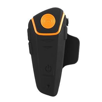docooler Casco de Moto Intercomunicador Bluetooth Interphone Inalámbrico con Auriculares 1000M Intercomunicación Distancia Manos Libres FM