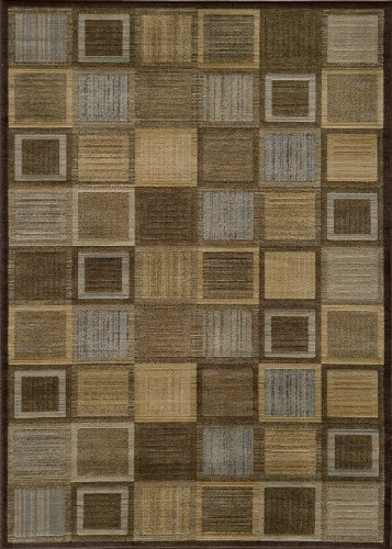 Momeni Rugs DREAMDR-07BRN3B57 Dream Collection, Contemporary Area Rug, 3'11