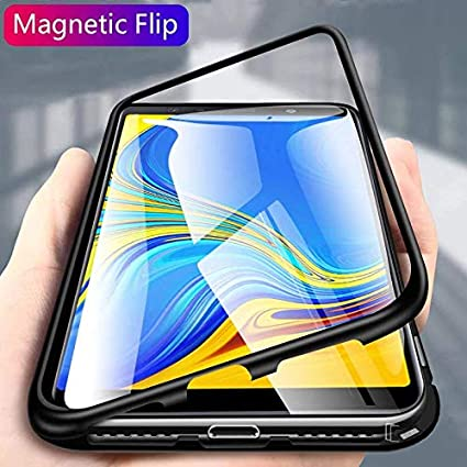 promo code de3d8 a4c2a Axxeum MI Redmi Note 5 Pro Case,Ultra Slim Magnetic Cover Metal Frame &  Tempered Glass Back, Built-in Powerful Magnet Back Cover for MI Redmi Note  5 ...