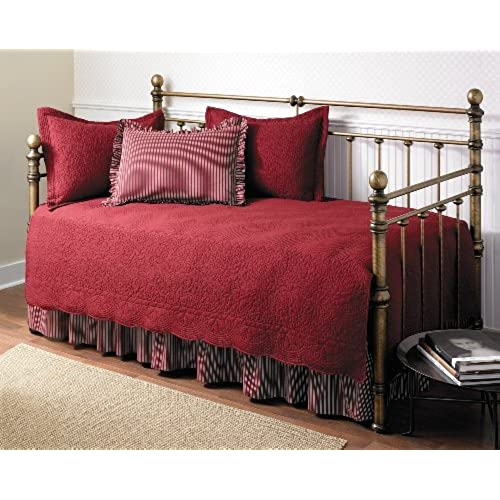 Stone Cottage Trellis Collection 5 Piece Daybed Set Scarlet