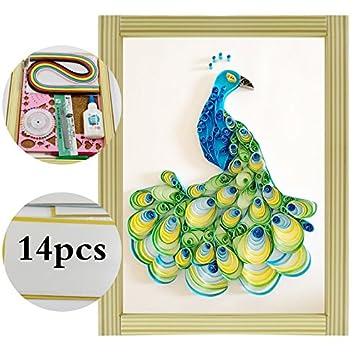 Kit Completo Um Wandbild Pfau Artesania Kinderspielzeug Quilling